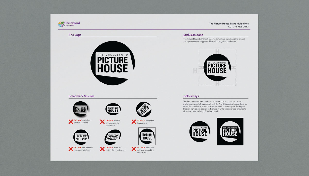 Brand Guidelines Chelmsford Picture House