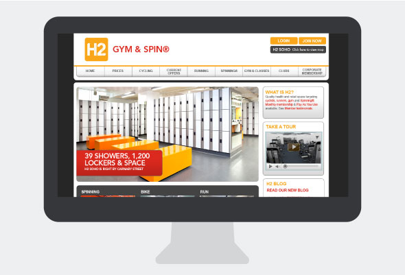 Gym Homepage Design H2