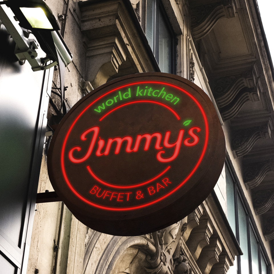 Restaurant Projecting Sign Jimmy's
