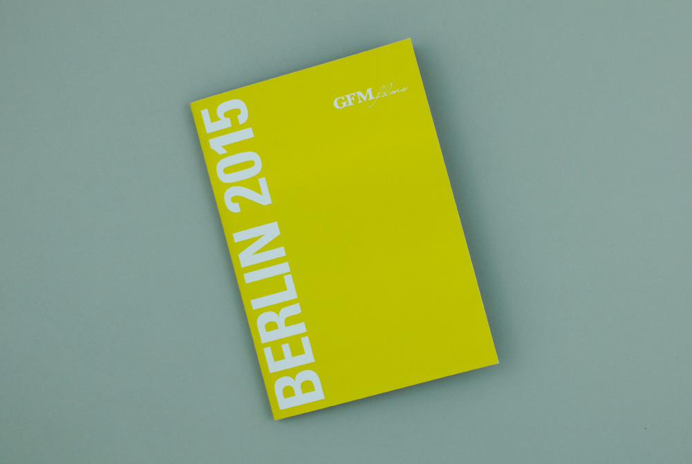 Film Brochure Cover for GFM Films