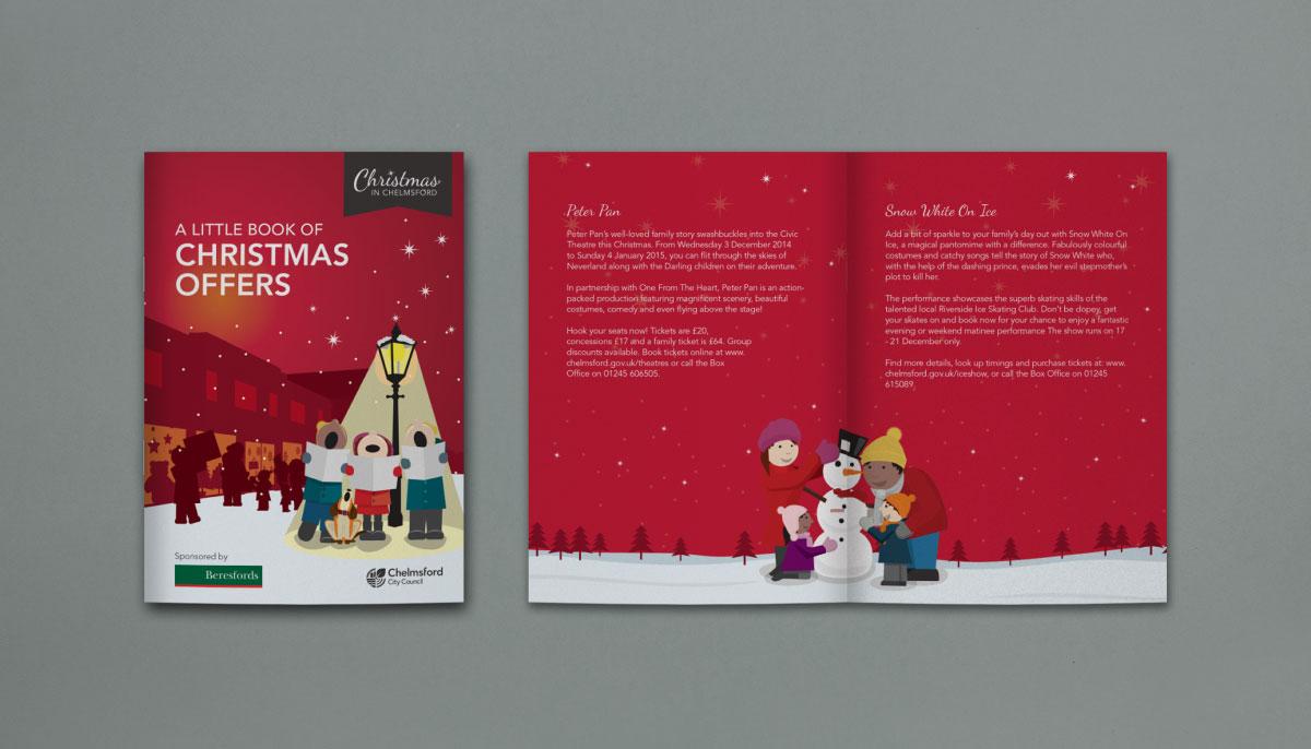 Christmas Branding Chelmsford Voucher Booklet