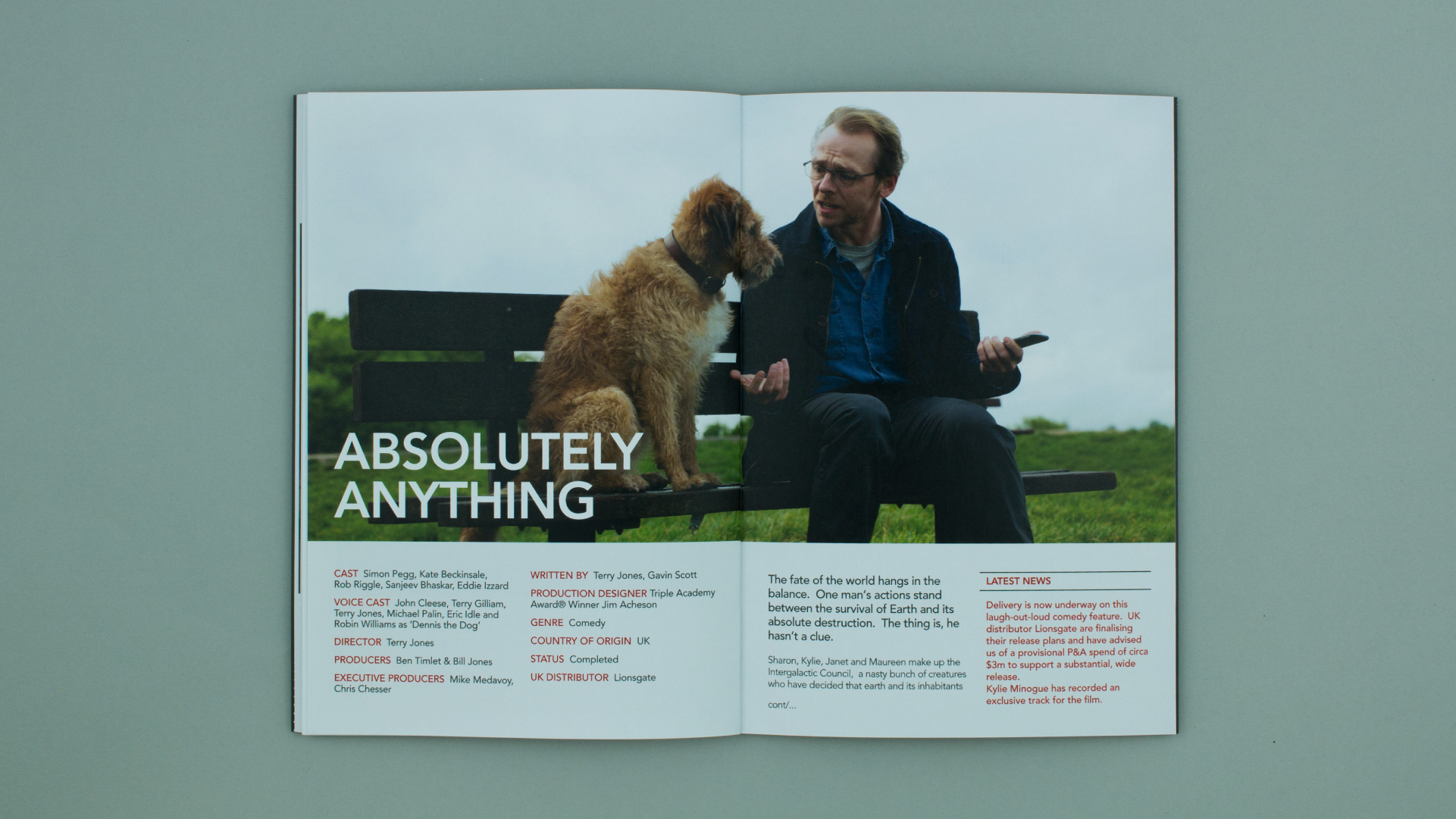 Film marketing brochure