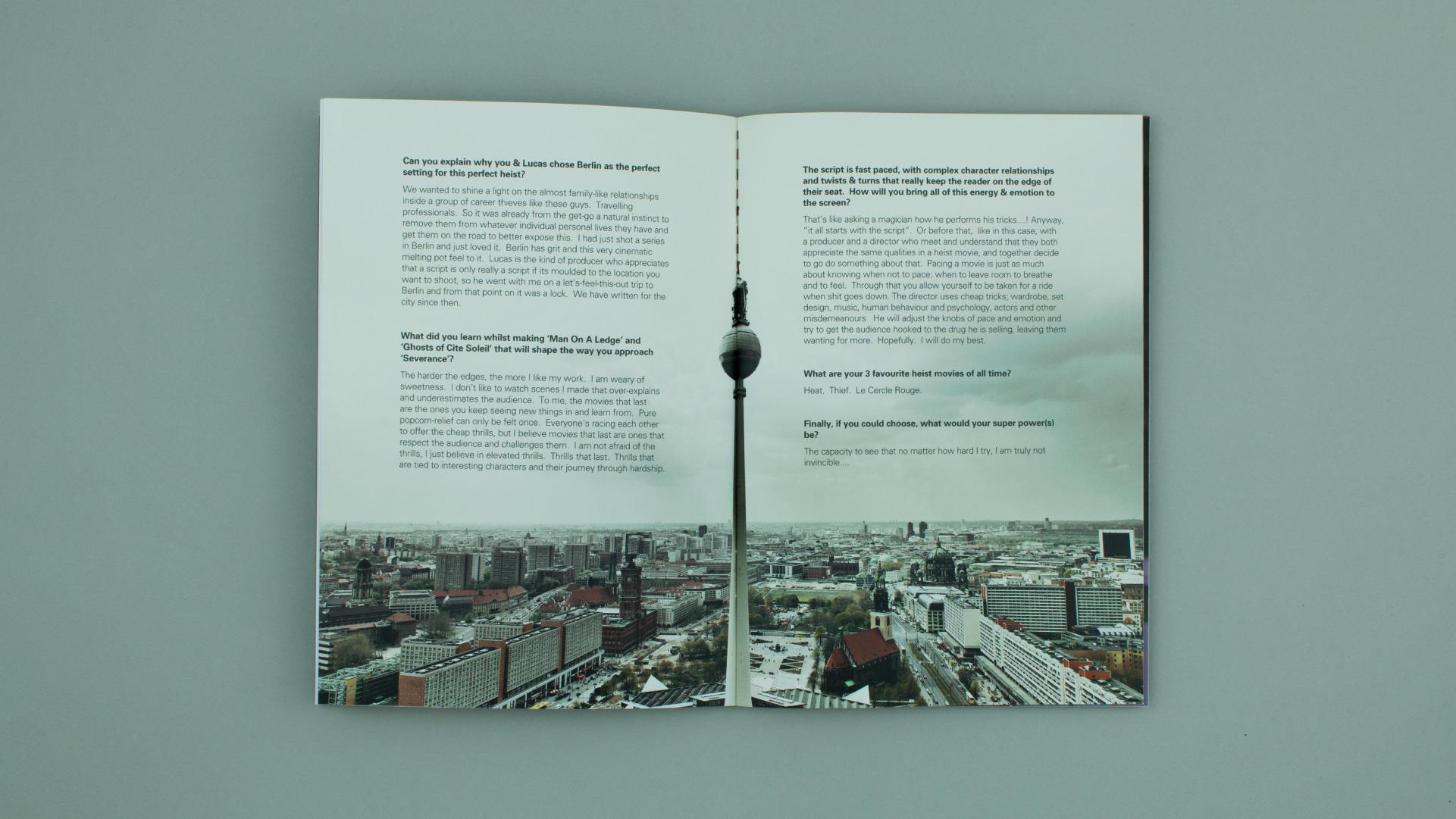 Film Brochure spread for marketing