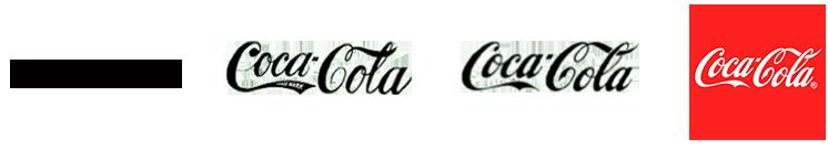 Evolution of Coca-Cola brandmark