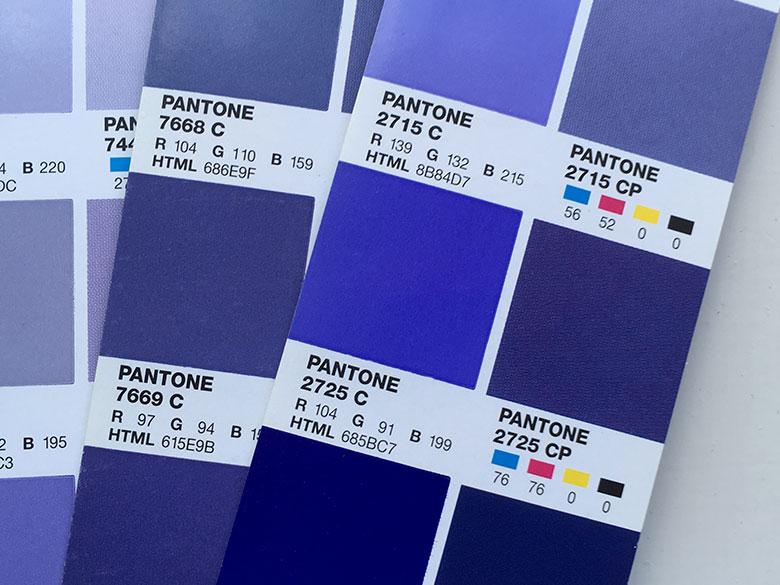 Brand Colourways Pantone references