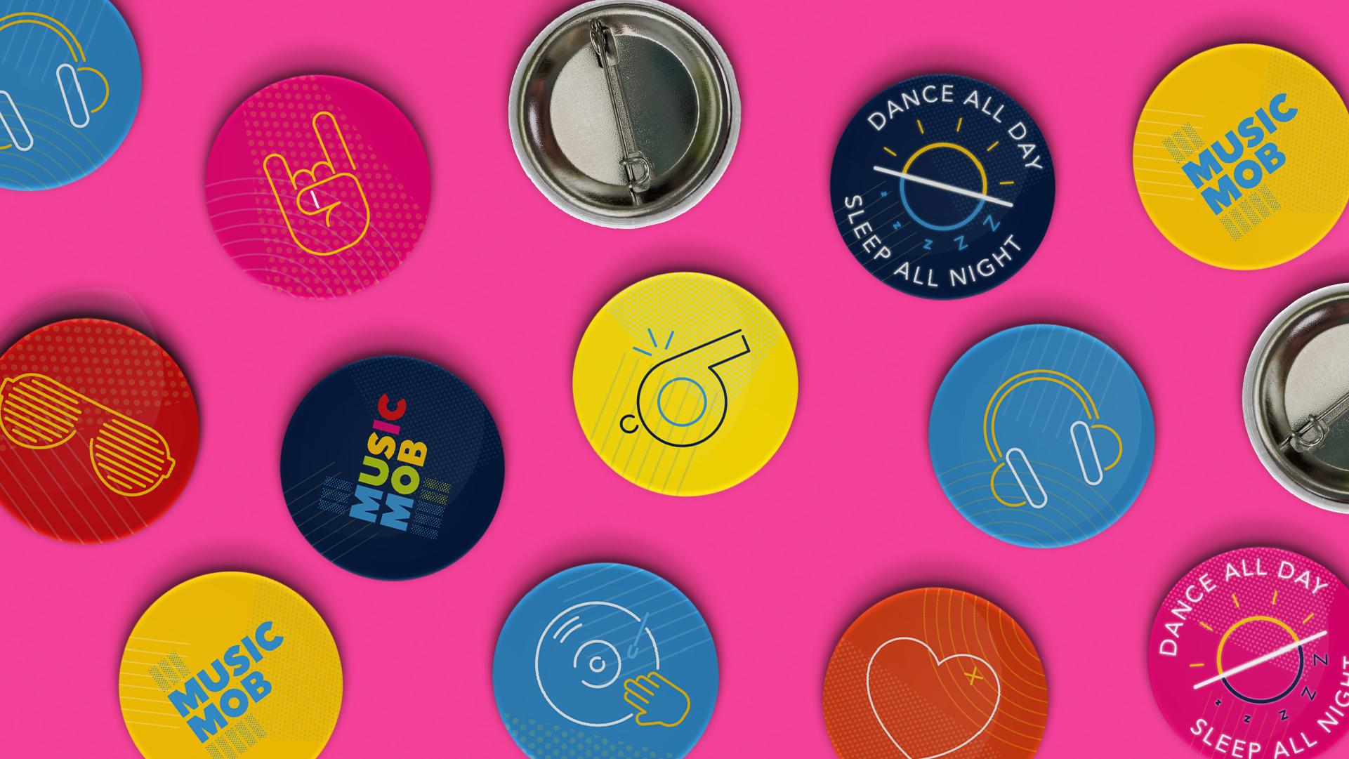 Brand Design Badges Music Mob