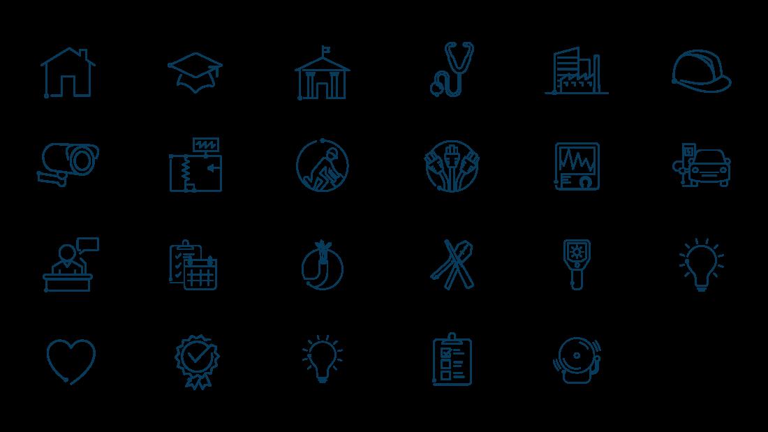 Brand Identity Icons Contractor Branding