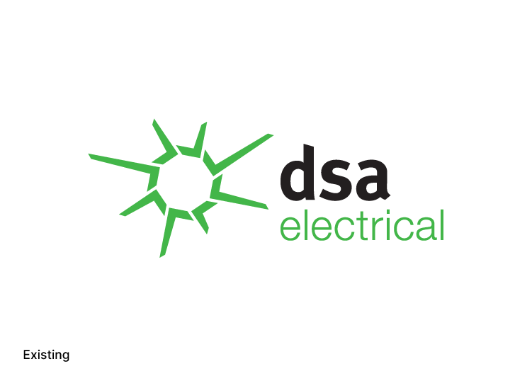Existing Logo Design DSA Electrical