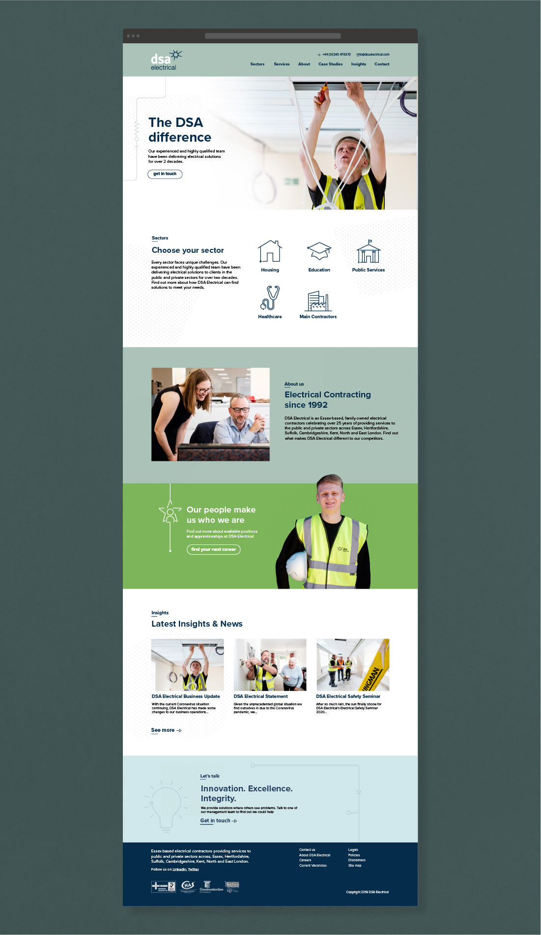 DSA Electrical Contractor Website Design